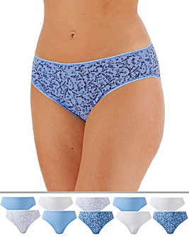 10 Pack High Leg Midi Briefs