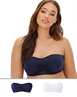 2Pack Smoothing Moulded Padded Bandeau