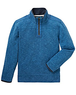 Mantaray Blue GB Pique Sweat Zip Hoody