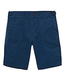 Mantaray Navy Slub Fatigue Shorts