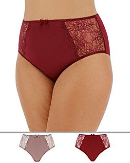 2 Pack Ella Lace Briefs