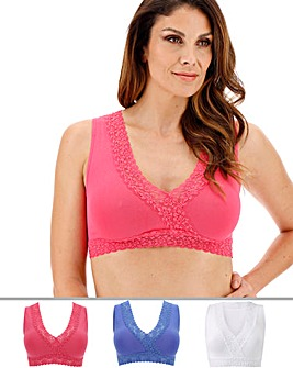 3Pack Lace Trim Comfort Tops