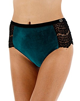 Joanna Hope Velour Flock Midi Brief