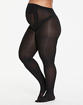 Pretty Secrets 2 Pack 100 Denier Maternity Black Tights