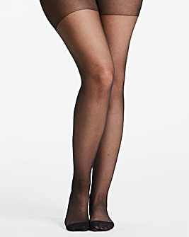 Pretty Secrets 3 Pack Black 15 Denier Ladder Resist Tights