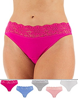 5 Pack Lace Top Thongs