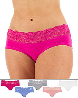 5 Pack Lace Top Shorts