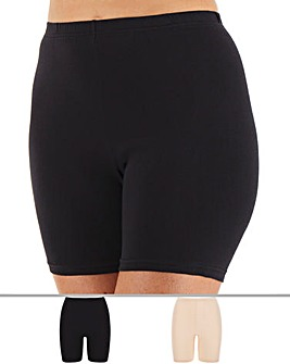 2 Pack Long Leg Comfort Shorts (Longer)