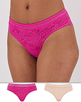 2 Pack Mila Lace Brazilians