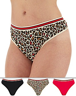 3 Pack Sporty Thongs