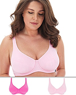 2 Pack Slimma Cotton Full Cup Bras
