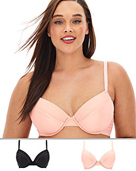 MAGISCULPT 2 Pack No VPL Black/Blush Plunge Bras