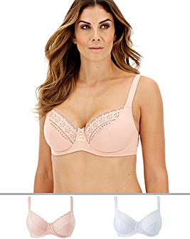 2 Pack Jane Full Cup Wired Bras