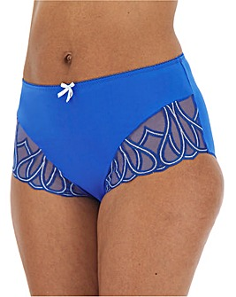 Pretty Secrets Amelie Royal Blue Embroidered Full Fit Briefs