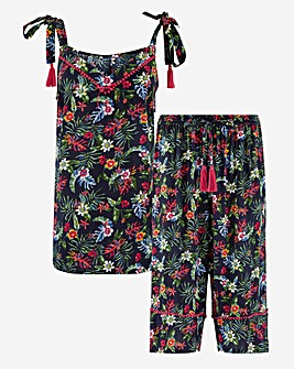 Joe Browns Floral Cami & Culotte PJ Set