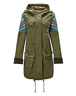 Joe Browns Embroidered Parka