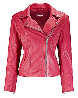 Joe Browns Ravishing Pink Leather Jacket