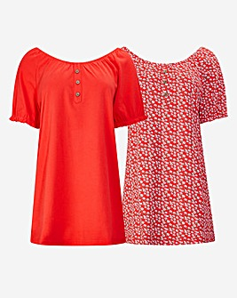 Joe Browns Pack Of 2 Gypsy Tops