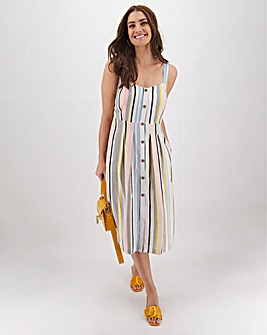 Joe Browns Stripe Mixed Linen Dress