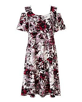 Grace cold shoulder swing dress