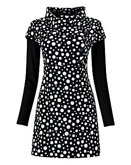 Joe Browns Black Polka Dot Tunic