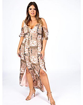 Koko Cold Shoulder Maxi Dress