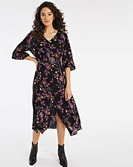 Joe Browns Painted Flowers Midi Dress