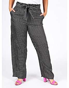 Koko Black and White Stripe Trousers