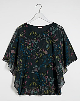Joe Browns Totally Teal Cape Sleeve Blouse