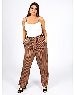 Koko Brown and White Stripe trousers