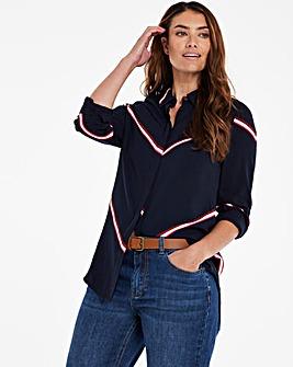 Dipped Back Viscose Shirt