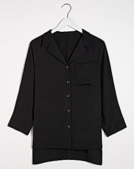 Black Button Through Blouse