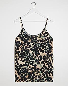 Leopard Print Strappy Cami