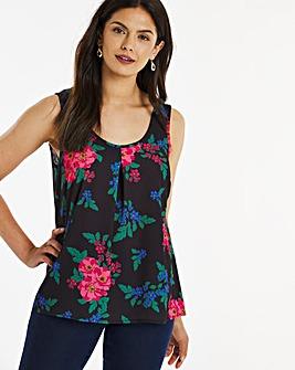 Floral Print Woven Vest