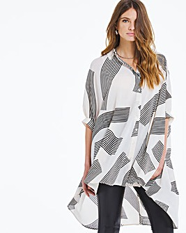 Oversized Zebra Blouse