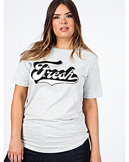 Koko Grey Fresh Slogan T-Shirt