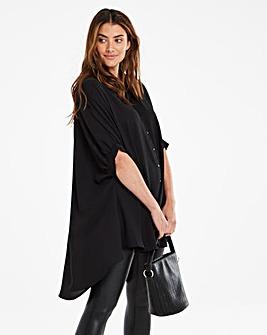 Black Oversized Blouse
