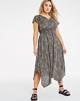 Joe Browns Mono Hanky Hem Wrap Dress