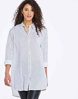 Black Stripe Relaxed Fit Shirt