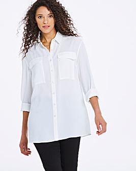 Ivory Twill Utility Shirt