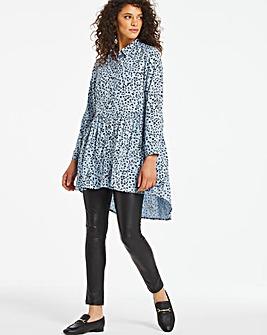 Blue Print Smock Viscose Shirt