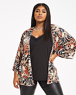 Multi Animal Print Woven Cover Up