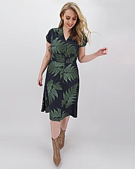 Joe Browns Palm Print Linen Mix Dress