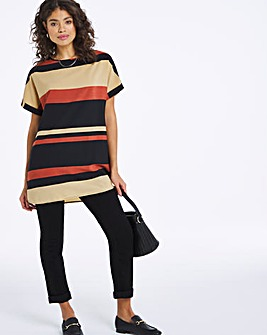Multi Stripe Longline Boxy Top