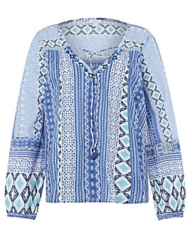 Monsoon Lola Print Top