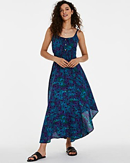 Joe Browns Peacock Hanky Hem Dress