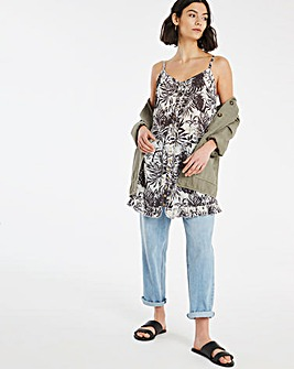 Joe Browns Mono Palm Print Ruffle Vest