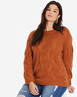 Junarose Textured Knit Pullover