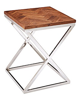 Melrose Chevron Side Table