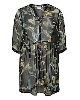 Junarose Bird Print Long Shirt